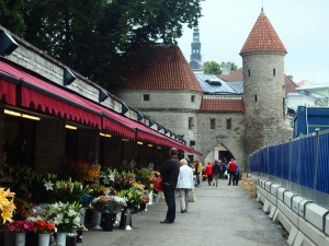 Medieval defensive walls of Tallinn