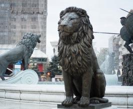 Lion at Fountain in Skopje