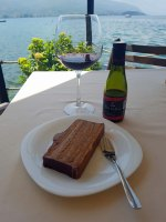Ohrid Cake and Macedonian wine