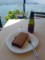 Ohrid Cake and Macedonian wine