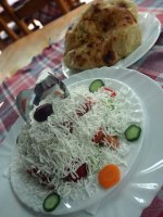 Shopska salad in Macedonian restaurant