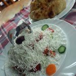 Shopska salad in Macedonian restaurant