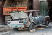 Lada has seen better days