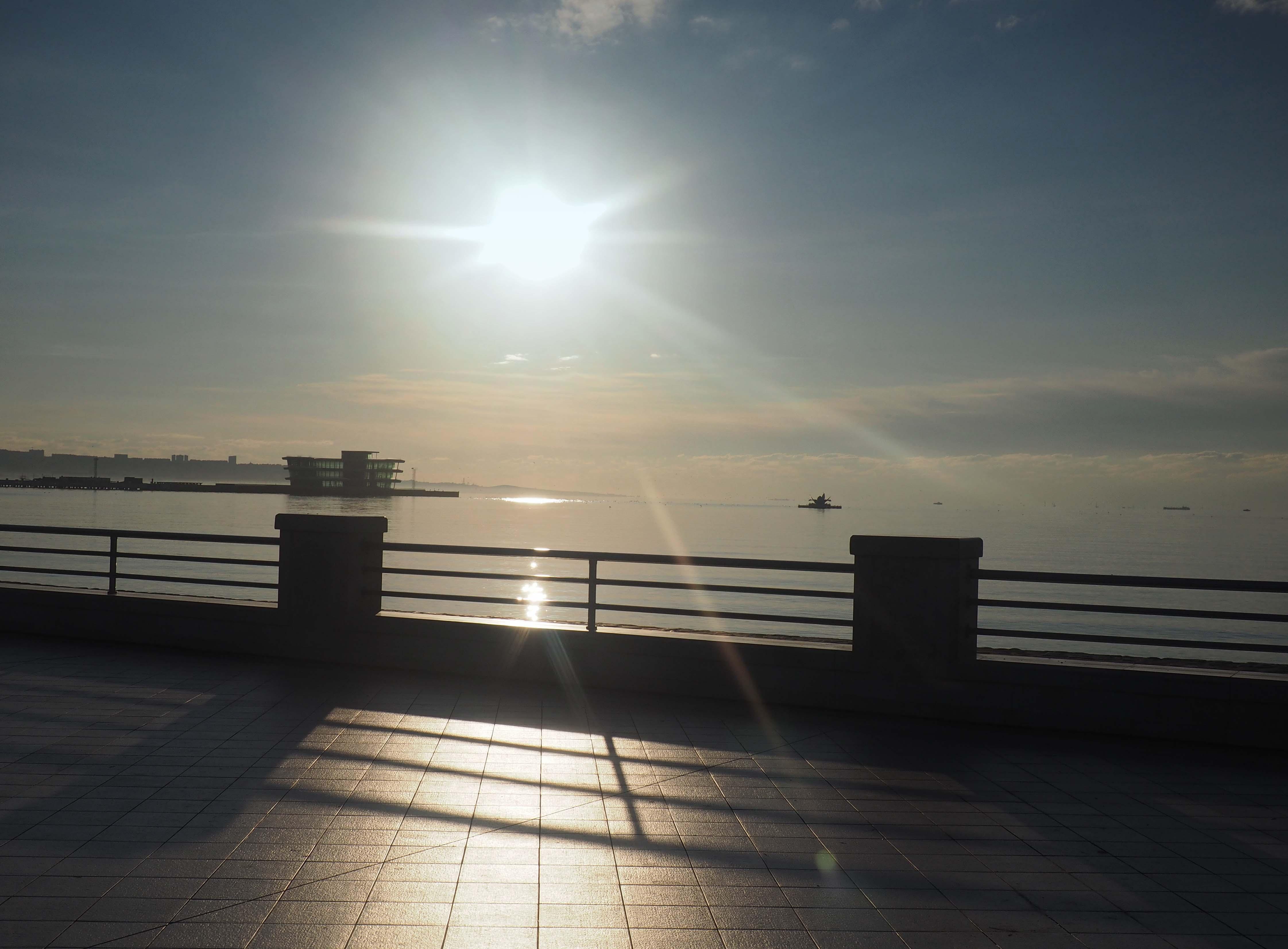 Baku promenade sunrise