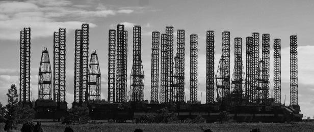 oil drilling rig baku azerbaijan