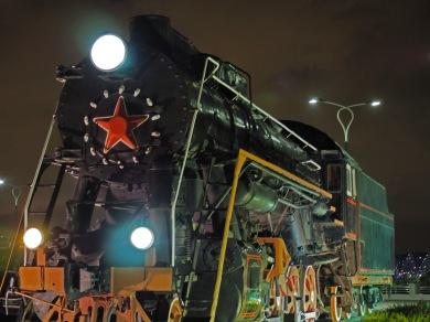 Old Soviet locomotive