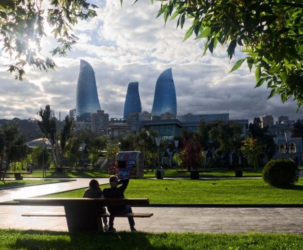 Baku Flame Towers romantic azerbaijan