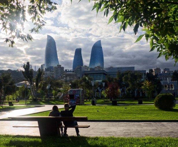 Baku Flame Towers romantic azerbaijan