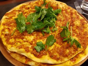 Lahmacun Turkish flatbread