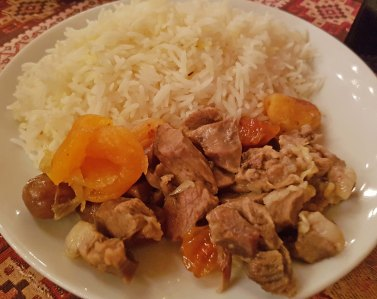 Plov with lamb