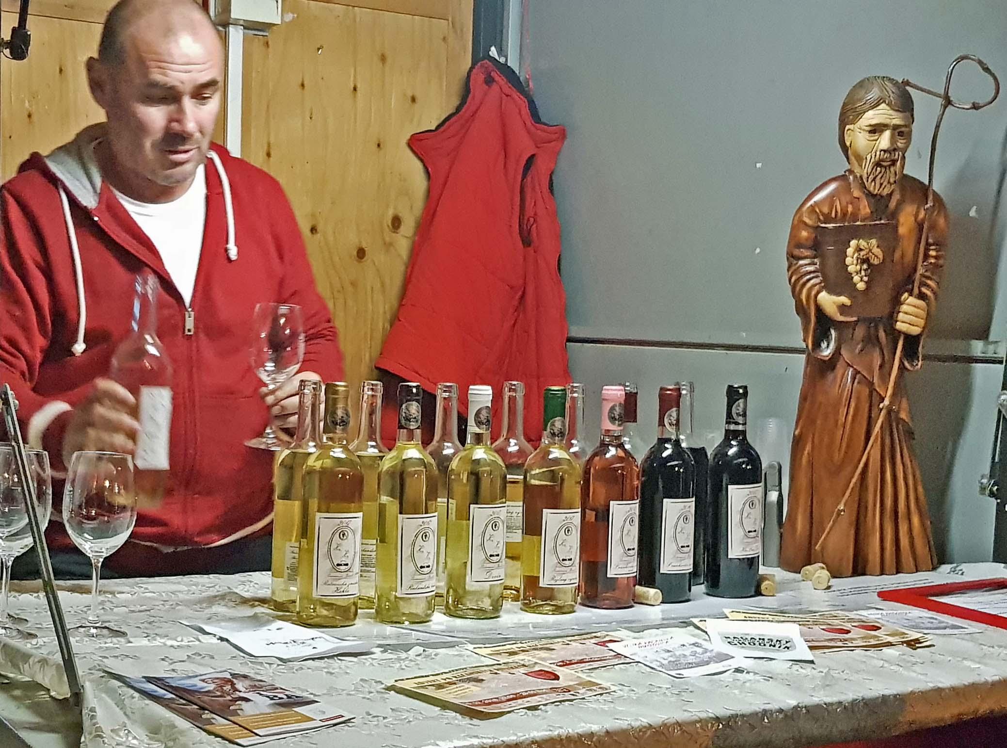 wine seller Slovakia Bratislava Christmas market
